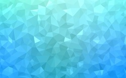 Light Blue, Green vector polygonal illustration, which consist of triangles. Triangular pattern for your business design. Geometric background in Origami style with gradient.
