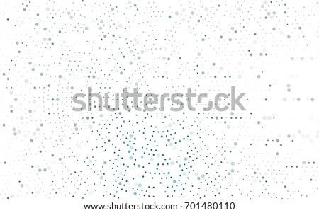 Light Blue, Green vector red pattern of geometric circles, shapes. Colorful mosaic banner. Geometric background with colored disks.
