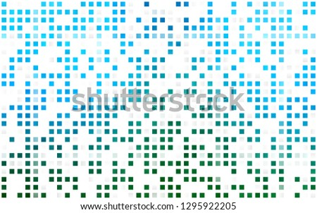 Light Blue, Green vector seamless backdrop with rectangles, squares. Rectangles on abstract background with colorful gradient. Template for business cards, websites.