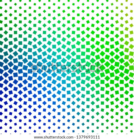 Light Blue, Green vector template with rectangles. Rectangles with colorful gradient on abstract background. Pattern for websites, landing pages.