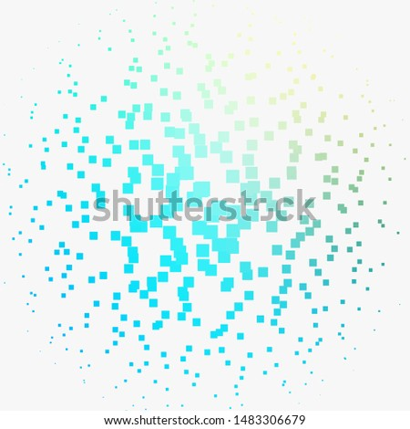 Light Blue, Green vector texture in rectangular style. Abstract gradient illustration with rectangles. Pattern for commercials, ads.