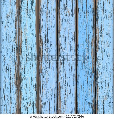 light blue old wooden fence