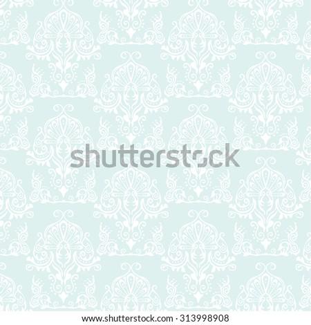 light blue pattern damask