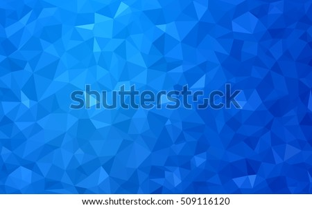 Light blue polygonal background. Creative geometric illustration in Origami style with gradient. The template can be used as a background for cell phones.