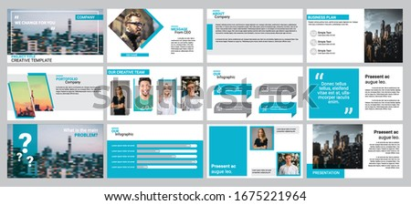 Light blue presentation background templates for business report, keynote, marketing, advertisement, and google slide. Clean and professional looks.