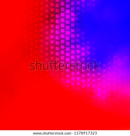 Light Blue, Red vector backdrop with rectangles. Rectangles with colorful gradient on abstract background. Pattern for websites, landing pages.