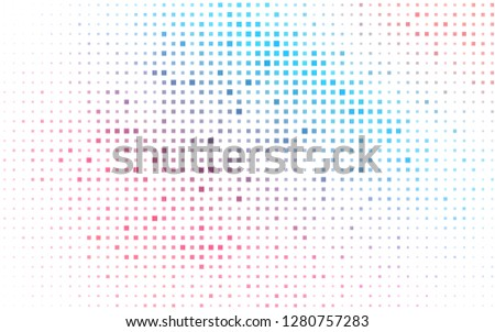 Light Blue, Red vector backdrop with rectangles, squares. Rectangles on abstract background with colorful gradient. The template can be used as a background.