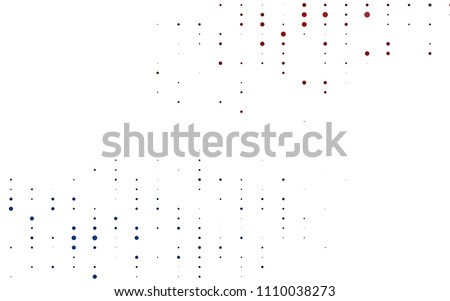 Light Blue, Red vector  background with dots. Beautiful colored illustration with blurred circles in nature style. Pattern can be used as texture of water, rain drops.