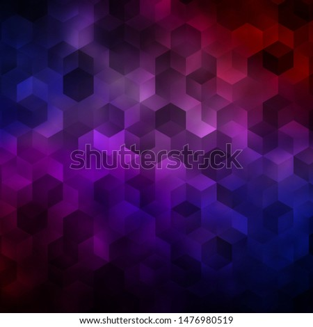 Light Blue, Red vector background with hexagons. Colorful hexagons on blur backdrop. Pattern for landing pages.