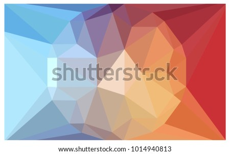 light blue  red vector diamond