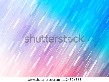 Light Blue, Red vector layout with flat lines. Blurred decorative design in simple style with lines. The pattern can be used as ads, poster, banner for commercial.