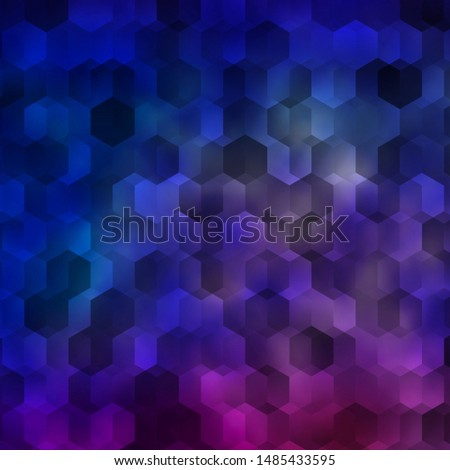 Light Blue, Red vector pattern with colorful hexagons. Colorful hexagons on blur backdrop. Pattern for landing pages.