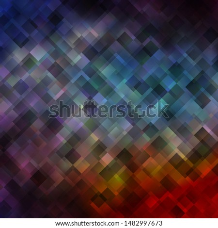 Light Blue, Red vector texture in rectangular style. Colorful illustration with gradient rectangles and squares. Pattern for commercials, ads.
