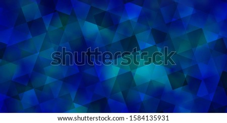 Light BLUE vector backdrop with lines, rhombus. Lines, rhombus with colorful gradient. Pattern for websites.