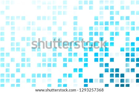 Light BLUE vector backdrop with rectangles, squares. Rectangles on abstract background with colorful gradient. Modern template for your landing page.