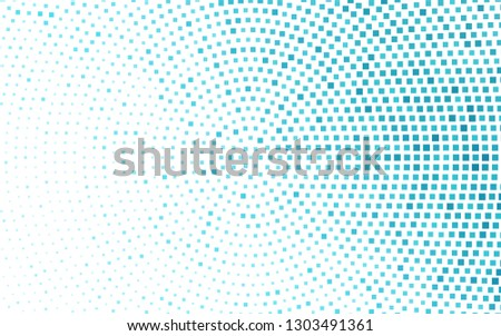 Light BLUE vector backdrop with rectangles, squares. Rectangles on abstract background with colorful gradient. Pattern can be used for websites.
