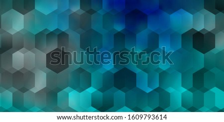 Light BLUE vector background with hexagons. Colorful hexagons on blur backdrop. Design for website posters, banners.