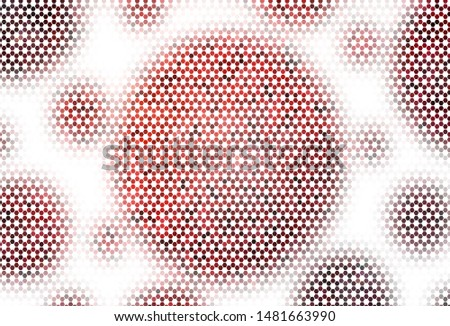 Light BLUE vector background with hexagons. Colorful hexagons on blur backdrop. Design for your business advert.