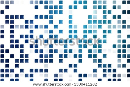 Light BLUE vector background with rectangles. Rectangles on abstract background with colorful gradient. Pattern can be used for websites.
