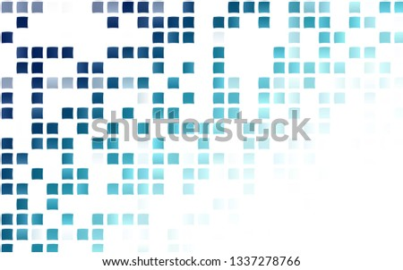 Light BLUE vector background with rectangles. Rectangles on abstract background with colorful gradient. The template can be used as a background.