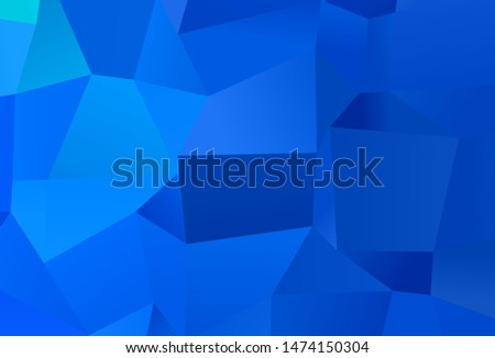 Light BLUE vector background with rectangles. Rectangles on abstract background with colorful gradient. Smart design for your business advert.
