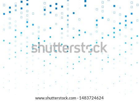 Light BLUE vector background with rectangles. Rectangles on abstract background with colorful gradient. Pattern for busines booklets, leaflets.