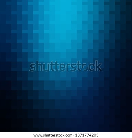 Light BLUE vector background with rectangles. Rectangles with colorful gradient on abstract background. Pattern for websites, landing pages.