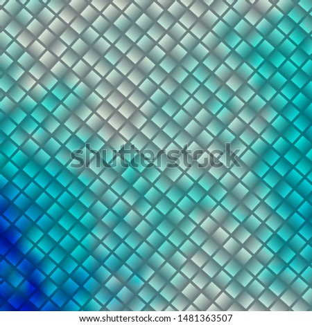 Light BLUE vector background with rectangles. Rectangles with colorful gradient on abstract background. Pattern for commercials, ads.