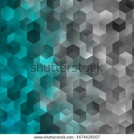 Light BLUE vector background with set of hexagons. Colorful hexagons on blur backdrop. Pattern for ads, leaflets.