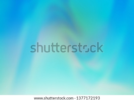 Light BLUE vector blurred and colored template. Glitter abstract illustration with an elegant design. The elegant pattern for brand book.