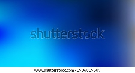 Light blue vector blurred texture. Colorful gradient abstract illustration in blur style. Your design for applications.