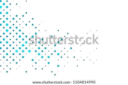 Light BLUE vector cover with spots. Abstract illustration with colored bubbles in nature style. Pattern for beautiful websites.
