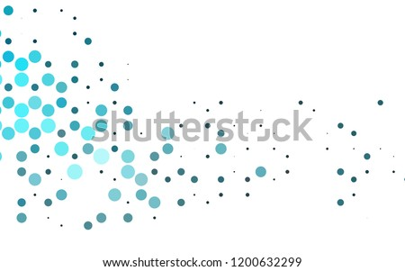 Light BLUE vector layout with circle shapes. Blurred decorative design in abstract style with bubbles. Template for your brand book.