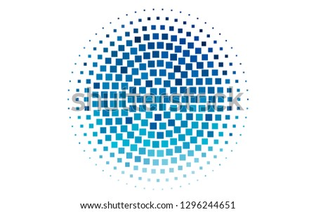Light BLUE vector layout with lines, rectangles. Rectangles on abstract background with colorful gradient. Pattern can be used for websites.