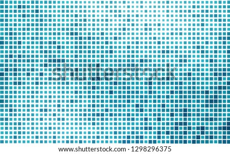 Light BLUE vector layout with lines, rectangles. Rectangles on abstract background with colorful gradient. Pattern for busines ad, booklets, leaflets