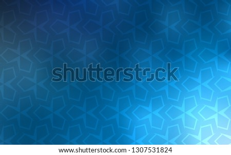 Light BLUE vector layout with lines, rectangles. Rectangles on abstract background with colorful gradient. Modern template for your landing page.