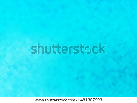 Light BLUE vector layout with lines, rectangles. Rectangles on abstract background with colorful gradient. Smart design for your business advert.