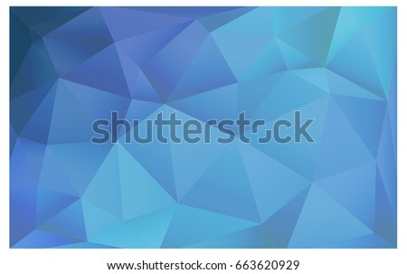 Light BLUE vector Low poly crystal background. Polygon design pattern. Low poly illustration, low polygon background.