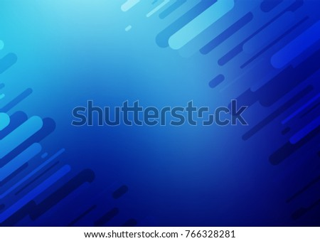 Light BLUE vector natural elegant template. Decorative shining illustration with doodles on abstract template. A new texture for your design.
