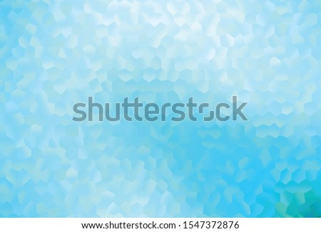 Light BLUE vector pattern with colorful hexagons. Colorful hexagons on abstract backdrop. Pattern for ads, leaflets.