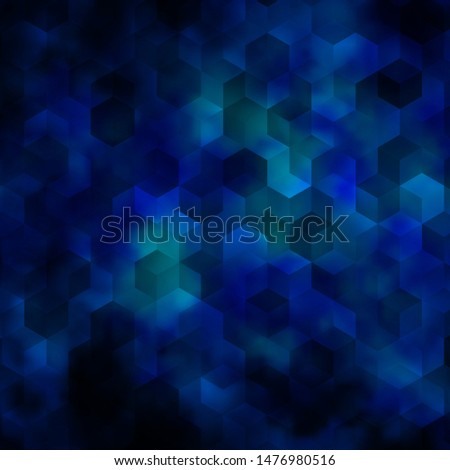 Light BLUE vector pattern with colorful hexagons. Colorful hexagons on blur backdrop. Design for website posters, banners.