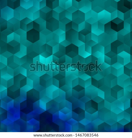 Light BLUE vector pattern with colorful hexagons. Colorful hexagons on blur backdrop. New template for your brand book.