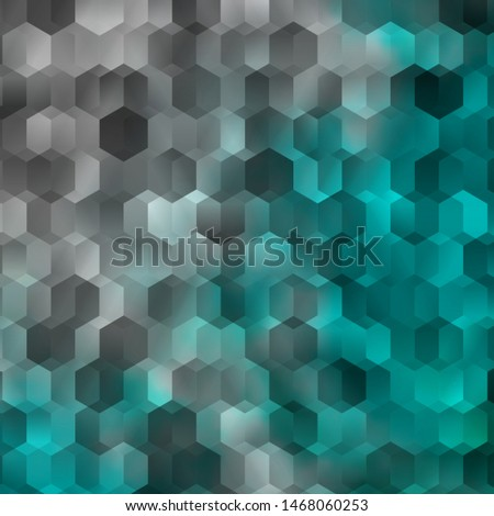 Light BLUE vector pattern with colorful hexagons. Colorful hexagons on blur backdrop. Pattern for your ad, booklets.