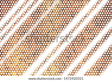 Light BLUE vector pattern with colorful hexagons. Colorful hexagons on blur backdrop. Pattern for texture of wallpapers.