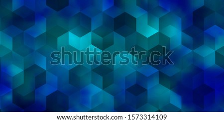 Light BLUE vector pattern with colorful hexagons. Colorful hexagons on blur backdrop. Pattern for ads, leaflets.