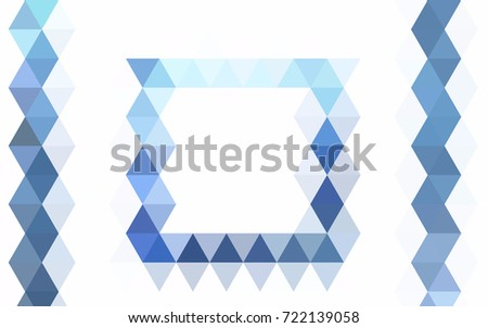 Light BLUE vector polygon abstract template. A vague abstract illustration with gradient. The template can be used as a background for cell phones.