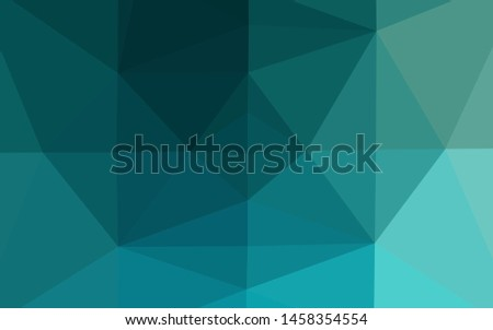 Light BLUE vector polygonal background. A sample with polygonal shapes. Polygonal design for your web site.
