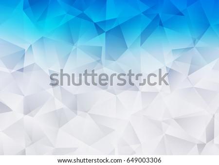 light blue vector polygonal