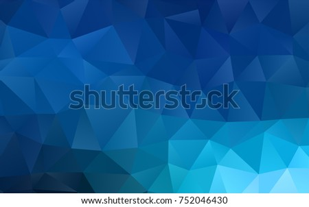 Light BLUE vector polygonal background. An elegant bright illustration with gradient. Triangular pattern for your business design.