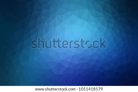 Light BLUE vector polygonal illustration, which consist of triangles. Triangular pattern for your business design. Geometric background in Origami style with gradient.